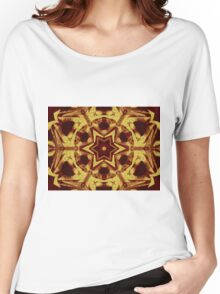 Star mandala in brown Women's Relaxed Fit T-Shirt