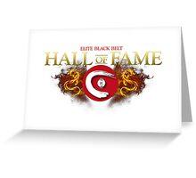 Elite Black Belt Hall of Fame - Seieido Greeting Card