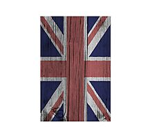Union Jack Painted on Wood Photographic Print