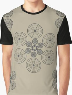 Circles on brown Graphic T-Shirt