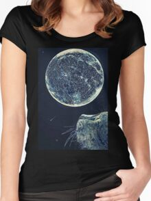 The moon and the Cat Women's Fitted Scoop T-Shirt