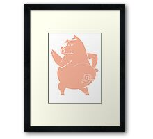 Shakin' Bacon Framed Print
