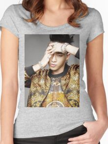 Taeyang with gold jacket Women's Fitted Scoop T-Shirt