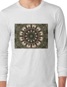 Rusty Alien Head Mandala Long Sleeve T-Shirt
