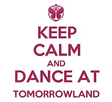 Keep calm, dance at tomorrowland Photographic Print