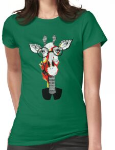 Hipster giraffe is hipster Womens Fitted T-Shirt