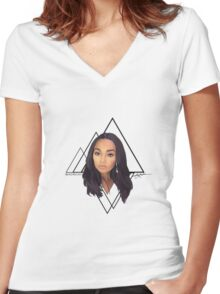 Triangle - LP Women's Fitted V-Neck T-Shirt