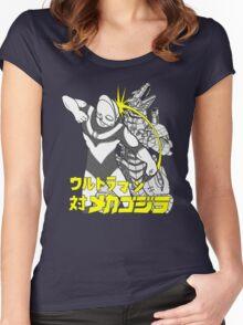 Ready Player One's Ultraman versus MecaGodzilla Women's Fitted Scoop T-Shirt
