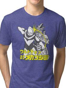 Ready Player One's Ultraman versus MecaGodzilla Tri-blend T-Shirt