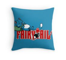 Happy Napping Throw Pillow