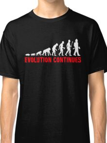Funny Fireman Evolution Of Man Continues Classic T-Shirt
