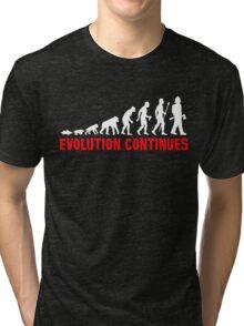 Funny Fireman Evolution Of Man Continues Tri-blend T-Shirt