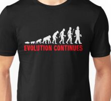 Funny Fireman Evolution Of Man Continues Unisex T-Shirt