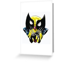 the wolverine owl Greeting Card