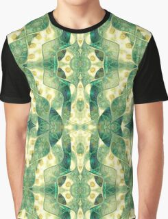 Green Forest Psychedelic Angels Graphic T-Shirt