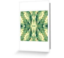 Green Forest Psychedelic Angels Greeting Card