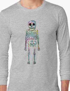 Tie Dye Skeleton Long Sleeve T-Shirt