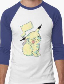Pikachu scratch Men's Baseball ¾ T-Shirt