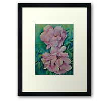 Two Peonies Framed Print