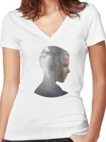 Eleven - Stranger Things Women's Fitted V-Neck T-Shirt