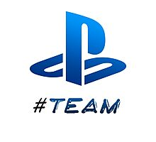 #Team Playstation Photographic Print