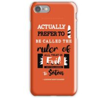 Satan - Grey's Anatomy iPhone Case/Skin