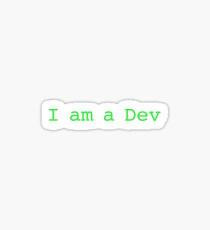 I am a Dev Sticker