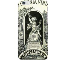 Vintage Wine ad iPhone Case/Skin