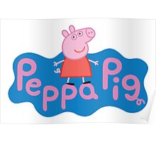 Peppa Pig logo Poster