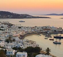 Sunset, Myconos Island, Greece by Vitta
