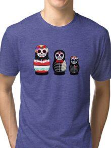 Matrioskas Día de los muertos Tri-blend T-Shirt