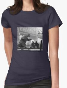 31 Imagine that godzilla attacks Manhattan. Would you fuck with me? Womens Fitted T-Shirt