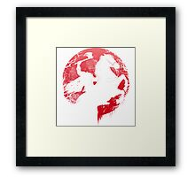 Spatar in red moon Framed Print