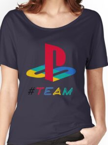 #Team Playstation color Women's Relaxed Fit T-Shirt