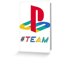 #Team Playstation color Greeting Card