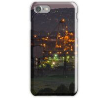 Sunset over Industrial area iPhone Case/Skin