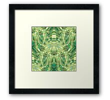 Green Dreams - psychedelic geometric  Framed Print