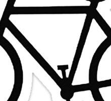 black bicycle bike Sticker