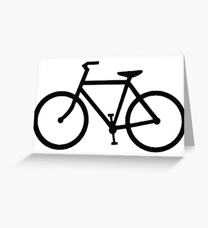 black bicycle bike Greeting Card