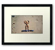 I WORKOUT! - Muscles on Mussels Framed Print