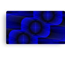 Bend it blue Canvas Print