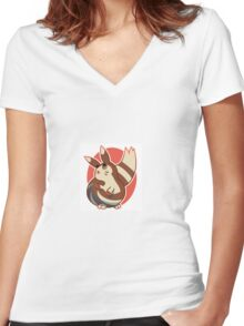 cute furret! Women's Fitted V-Neck T-Shirt