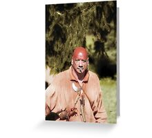 Portrait in First History  Greeting Card