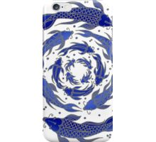 Fish Flow in Blues iPhone Case/Skin