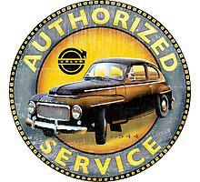 Volvo P544 Swedish Vintage Car Classic Photographic Print