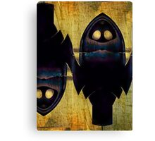 Double Nature Of Owls Canvas Print