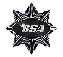 BSA vintage Motorcycles UK black Star Photographic Print