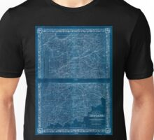 0112 Railroad Maps Colton's map of the state of Indiana compiled from the United States surveys other authentic sources exhibiting sections fractional sections railroads canals Inverted Unisex T-Shirt