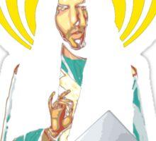 Patron Saint of Bass head Sticker