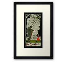 Once upon a bonfire Framed Print